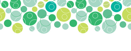 vector abstract green circles seamless pattern background horizontal border with geometric shapes photo