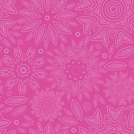 vector pink abstract flowers texture seamless pattern background