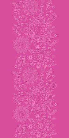 vector pink abstract flowers texture vertical seamless pattern background photo