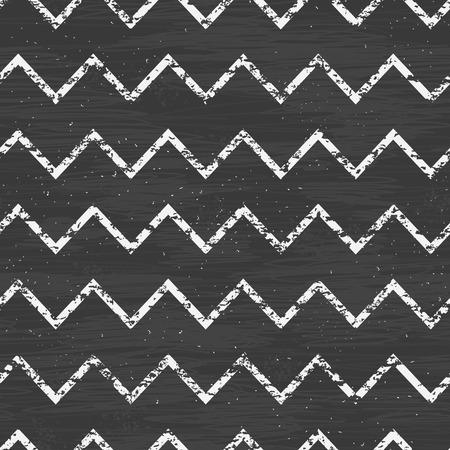 vector chalk chevron blackboard seamless pattern background photo