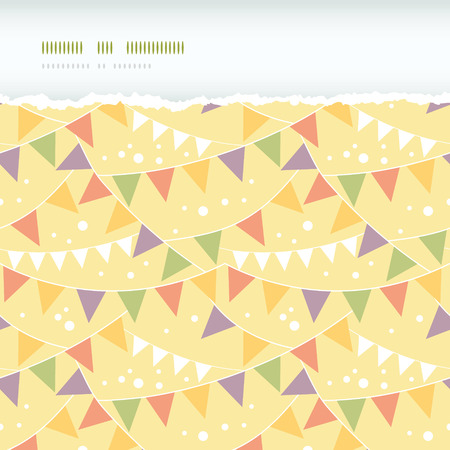 Vector Party Decorations Bunting Horizontal Torn Seamless Pattern Background with triangular bunting and stars in shades of red. Perfect for winter holiday background! photo