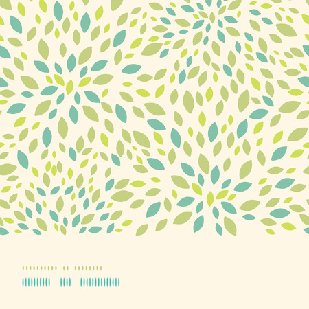 Vector leaf texture horizontal border seamless pattern background with textured abstract leaves.