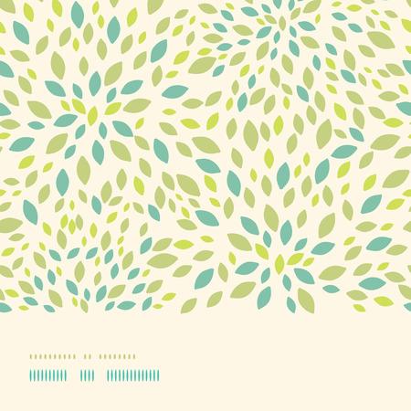 Vector blad textuur horizontale grens naadloze patroon achtergrond met getextureerde abstracte bladeren.