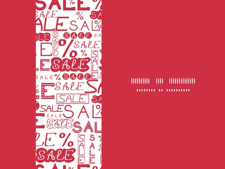 vector sale text seamless pattern horizontal frame background with hand drawn elements photo