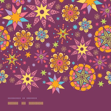 vector colorful stars horizontal seamless pattern background template Vector
