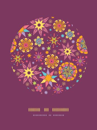 vector colorful stars circle decor pattern background template Vector