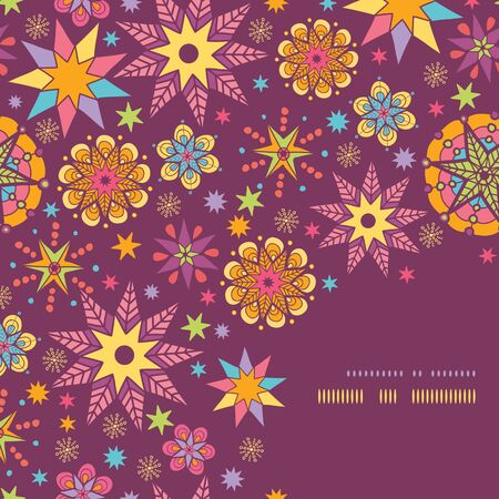 vector colorful stars corner seamless pattern background template Vector