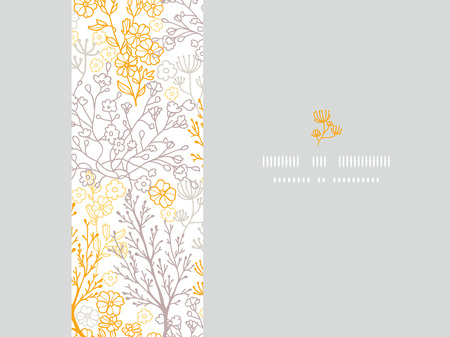 MVector magical floral horizontal frame seamless pattern background with hand drawn elements Vector