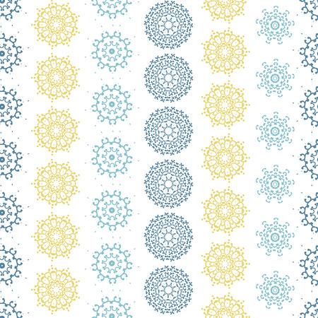 gray: vector yellow gray abstract mandalas striped seamless pattern background