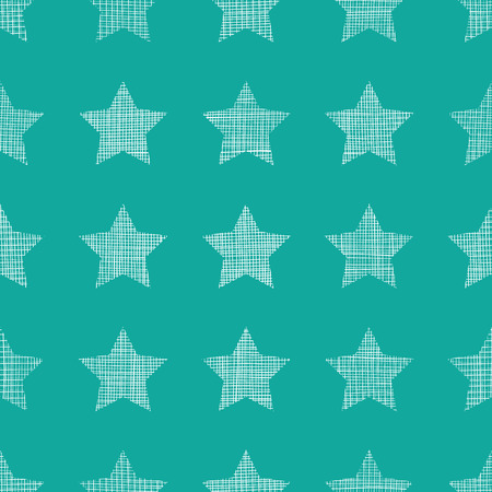 mesh: vector stars textile textured green seamless pattern background Illustration