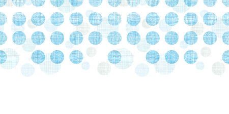 Abstract textile blue polka dots stripes horizontal seamless pattern background Vector