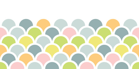 grey pattern: vector abstract colorful fishscale horizontal seamless pattern background