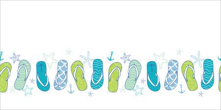 해상 플립 파란색과 녹색 가로 원활한 패턴 배경을 퍼 일러스트