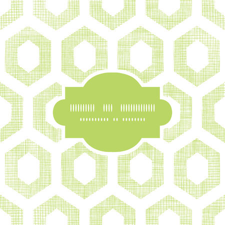 Vector abstract green fabric textured honeycomb cutout frame seamless pattern background Vector