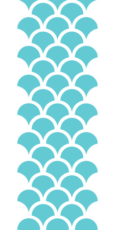 fishes: vector abstract blue fishscale vertical seamless pattern background