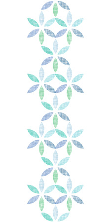 repetition: vector abstract textile blue green leaves vertical seamless pattern background