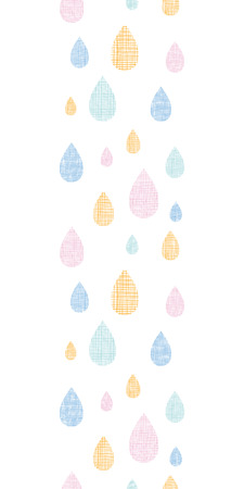 vector abstract textile colorful rain drops vertical seamless pattern background Vector