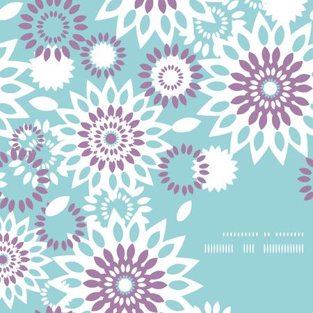 flores en esquina: Vector p�rpura y azul floral marco abstracto Modelo de la esquina de fondo