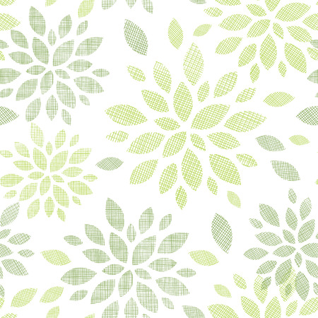 bush mesh: vector fabric textured abstract leaves seamless pattern background