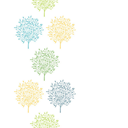 summer trees: �rboles del verano colorido vertical de fondo sin fisuras patr�n