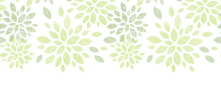 bush mesh: vector fabric textured abstract leaves horizontal seamless pattern background