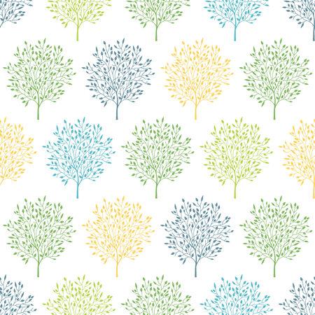 summer trees: �rboles vector verano colorido de fondo de fisuras Vectores