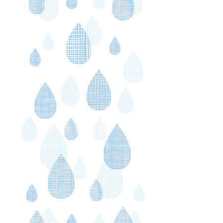 vector abstract textile blue rain drops vertical seamless pattern background Vector