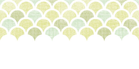 vector abstract  textile green fishscale fishscale horizontal seamless pattern background Vector