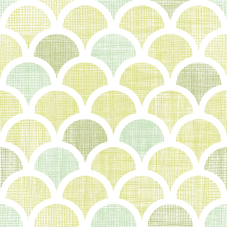 vector abstract  textile green fishscale fishscale seamless pattern background Vector