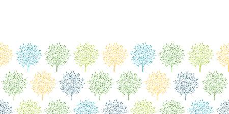 summer trees: �rboles del verano colorido horizontal de fondo de fisuras Vectores