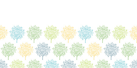 reapeating: summer trees colorful horizontal seamless pattern background