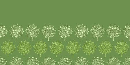 reapeating: green trees stripes horizontal seamless pattern background Illustration