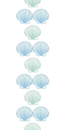 Abstract seashels stripes vertical seamless pattern background Vector