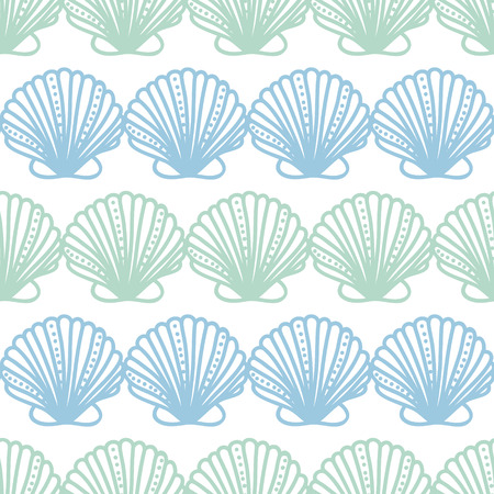 abstract seashels stripes seamless pattern background Vector