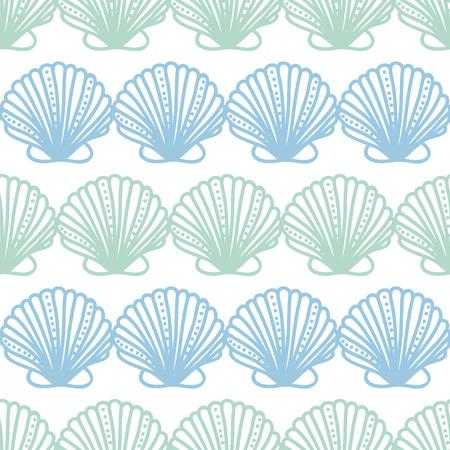 seamless pattern background: abstrakte seashels Streifen nahtlose Muster Hintergrund Illustration