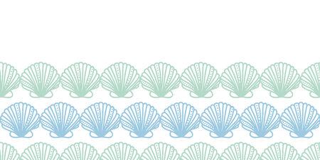 seamless pattern background: abstrakte horizontale Streifen seashels nahtlose Muster Hintergrund Illustration