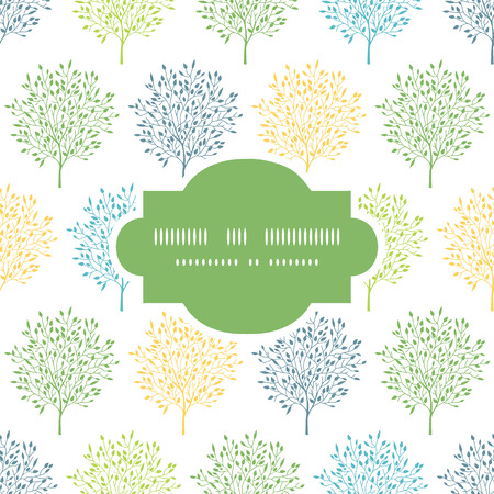 reapeating: Summer trees colorful frame seamless pattern background