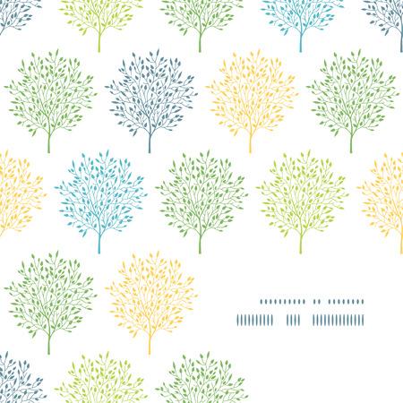 summer trees: �rboles del verano Modelo de la esquina colorido marco de fondo Vectores
