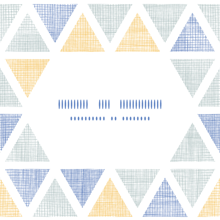 Abstract textile ikat triangles frame seamless pattern background Vector