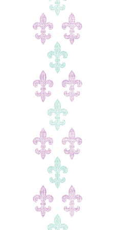 Abstract textile fleur de lis stripes vertical seamless pattern background Vector