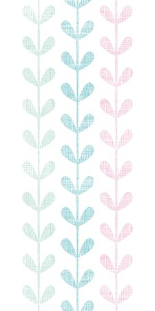 Abstract textile colorful vines leaves vertical seamless pattern background Vector