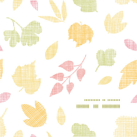 Abstract textile texture fall leaves frame corner pattern background Illustration