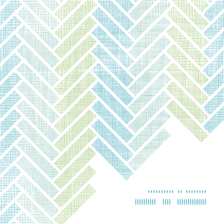 Abstract textile stripes parquet frame corner pattern background