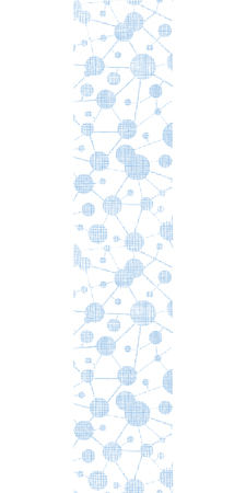 Blue molecules testile texture vertical seamless pattern background Vector