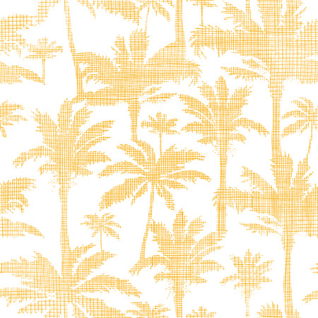 vector palm trees golden textile seamless pattern background Stock Vector - 30713499