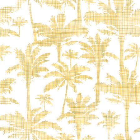 vector palmbomen gouden textiel naadloze patroon achtergrond Stock Illustratie