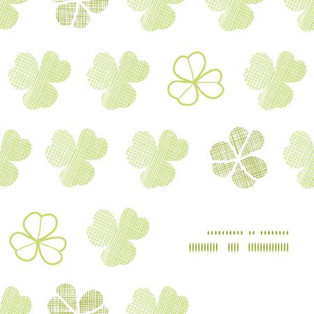clover geometric textile textured frame corner pattern background Vector