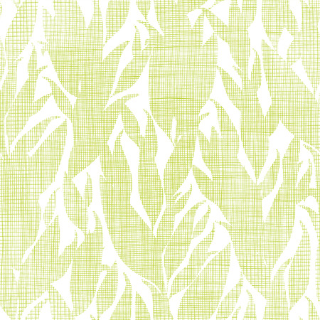 Green leaves textile texture seamless pattern background Vector