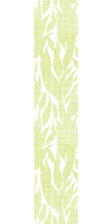 Green leaves textile texture vertical seamless pattern background Vector