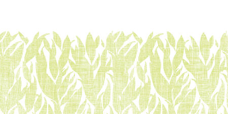 bush mesh: Green leaves textile texture horizontal seamless pattern background Illustration